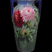 Heinrich & Co. (H&Co.) Bavaria Spider Mum Motif Vase (c.1900-1930)