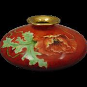 PH Leonard Austria Poppy Motif Squat Vase (c.1890-1908)