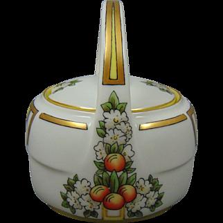 "Zeh Scherzer & Co. (ZS&Co.) Bavaria Arts & Crafts Orange Fruit & Flower Motif Jelly/Condiment Jar (Signed ""M. Vons""/c.1910-1930) - Keramic Studio Design"