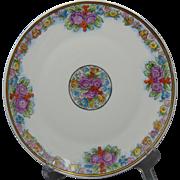 """Heinrich & Co. (H&Co.) Bavaria Arts & Crafts Floral Design Plate (Signed """"M.B.S.""""/Dated 1922)"""