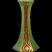 Tressemann & Vogt (T&V) Limoges Arts & Crafts Egyptian Revival Motif Candlestick (c.1907-1919)