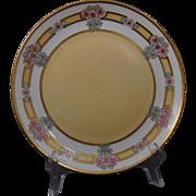 Hutschenreuther Bavaria Arts & Crafts Enameled Floral Design Plate (c.1900-1920)