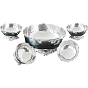 Cased Indian Silver Fruit Set, c.1940 T Kishsnchand's of Bombay, Dishes Bowls
