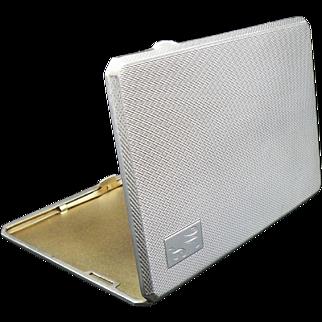 Silver Cigarette Case, Birmingham 1946, Morris & Baker