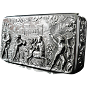 Antique Silver Snuff Box, Chester 1899, George Nathan & Ridley Hayes