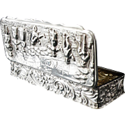 Silver Snuff Box, Chester 1904, George Nathan & Ridley Hayes