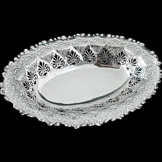 Silver Fruit Basket Dish, Birmingham 1901, Finnigan's Ltd