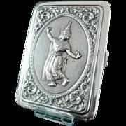 Siam Sterling Silver Cigarette Case, SENA, 20th Century