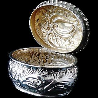 Silver Trinket Box, Birmingham 1893, Deakin & Francis Ltd