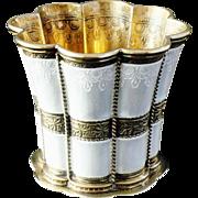 Danish Silver Enamel Cup, Queen Margrethe's, Anton Michelsen