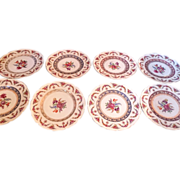 """Beautiful German Schumann Bavaria 8 Dinner Plates 11"""" Signed Vintage Great Condition!"""