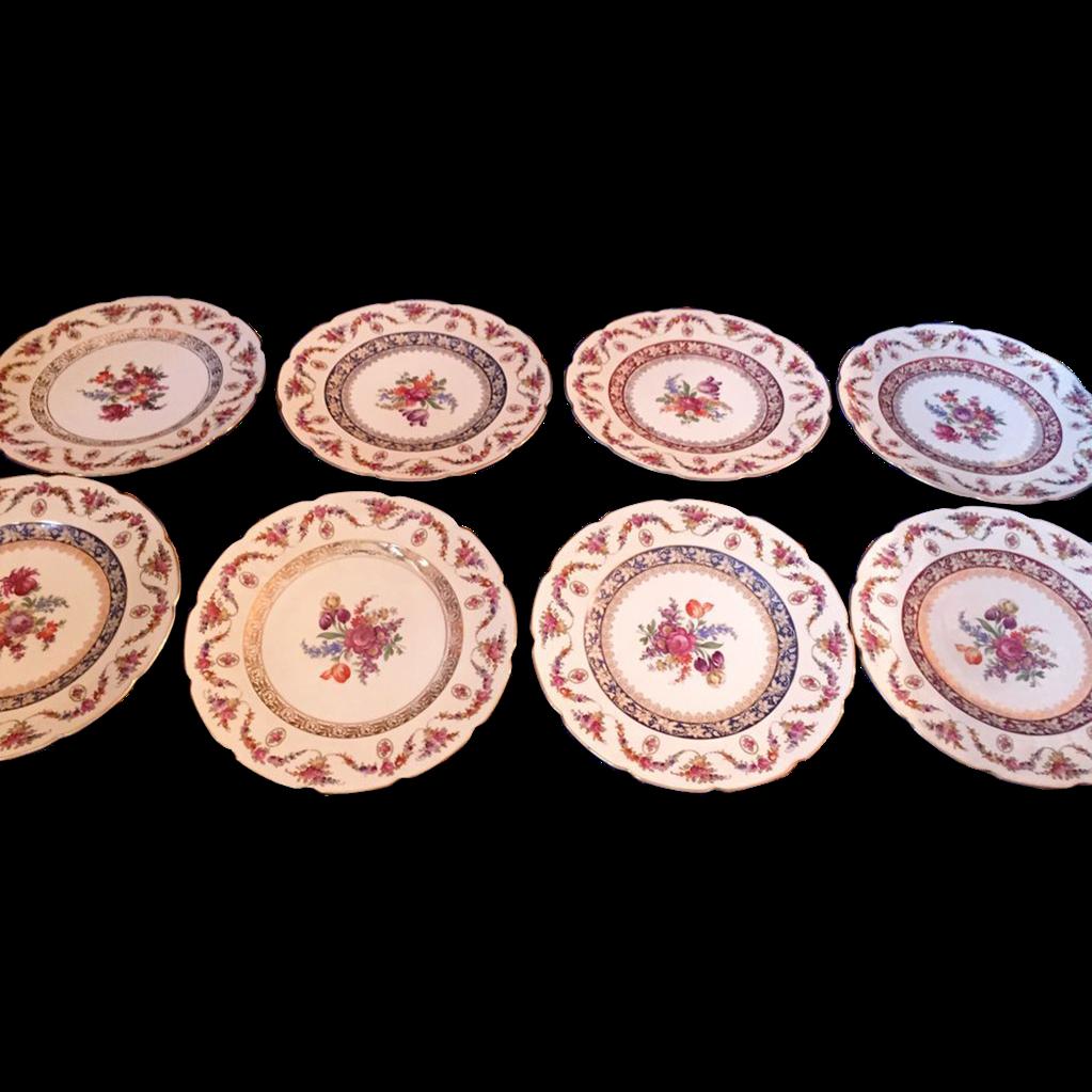 Beautiful german schumann bavaria 8 dinner plates 11 Beautiful plates