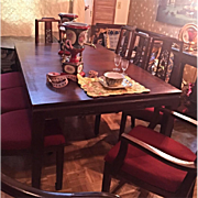 Beautiful Vintage Rosewood Dining Set 8 Chairs 2 Leaves Lg Table South Asia Origin Circa 1948