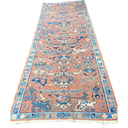 "Antique Persian SERAPI Wonderful colors & Condition Circa 1910 9' x 3'4"""