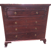 Very Early English Victorian Butler's Chest w/Desk Solid Mahogany Fabulous Circa 1850