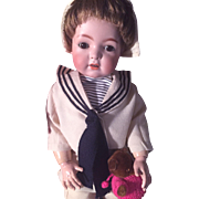 "Franz Schmidt 1295 FS&C 23"" Antique Child doll on Orig Fully Jointed Body--Sailor Boy Outift!"