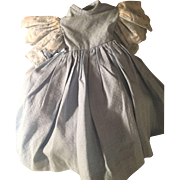 Beautiful Baby Blue Vintage Dress for Antique Doll~