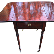 Antique English George III Mahogany Pembroke Table Circa 1790