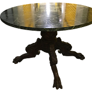 Magnificent Antique Round Table American Circa 1830 Green Marble Top
