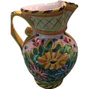 """Exquisite Vintage Italian Pitcher 10"""" tall Signed Made in Italy """"B Book & Co LLC"""