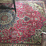 Vintage Persian Rug Gorgeous Reds, Lavender, Greens, Blues 8x10