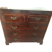 George III Period Mahogany Engliish Bureau Desk All Original Circa 1780!