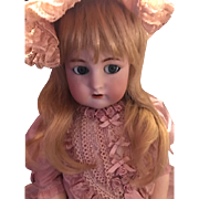 """K*R Flirty Antique doll 28"""" Beautiful Bisque, Blue Eyes ADORABLE!"""
