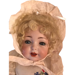 "15"" Gebruder Heubach Character Toddler Bl sl eyes--Orig Clothes--FABULOUS!"