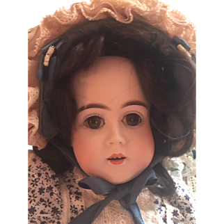 """OM KESTNER German Doll  19""""Gorgeous Br Sl Eyes Fabulous Clothes--Great Red Shoes!"""