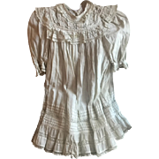"""Beautiful Antique French Christenig Baby Gown GC 22"""" long! Circa 1890 - Red Tag Sale Item"""