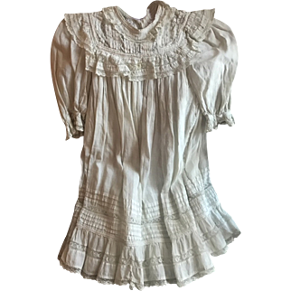 "Beautiful Antique French Christenig Baby Gown GC 22"" long! Circa 1890"