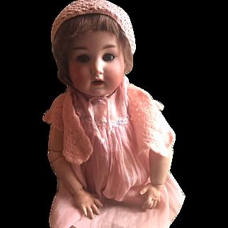 "20"" Schuetzmeister Quendt Toddler #201 Great Character Face Blue Sl Eyes!"