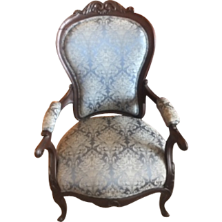 Gorgeous Antique American Rosewood Rococo Victorian Chair