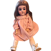 "14"" Antique German Hartman doll GC blue sl eyes"