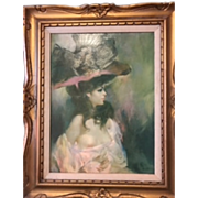 """Orig. Julian Ritter oil painting 26"""" x 32"""" Signed Circa 1960 Magnificent"""