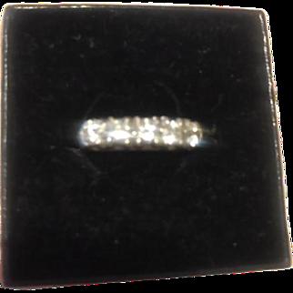 One Carat Diamond Eternity Band 14kt White Gold White Diamonds GC Size 6