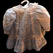 "Vintage Dress for Antique Doll 13.5"" long Gorgeous!"