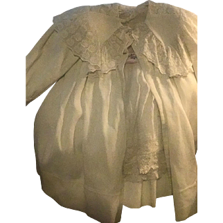 Antique Baby Carriage Coat & Dress Gorgeous whitework Circa 1890