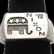 Nixon Presidential Memorabilia Men's Ring Engraved John Roberts Inside Size 9 - Red Tag Sale Item