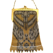 Whiting and Davis Dresden Mesh Art Deco Handbag with Fringe