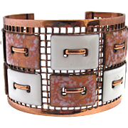 Matisse Renior Cuff Bracelet Enamel and Copper