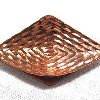 Modernist Copper Brooch Gret Barkin New Hope PA