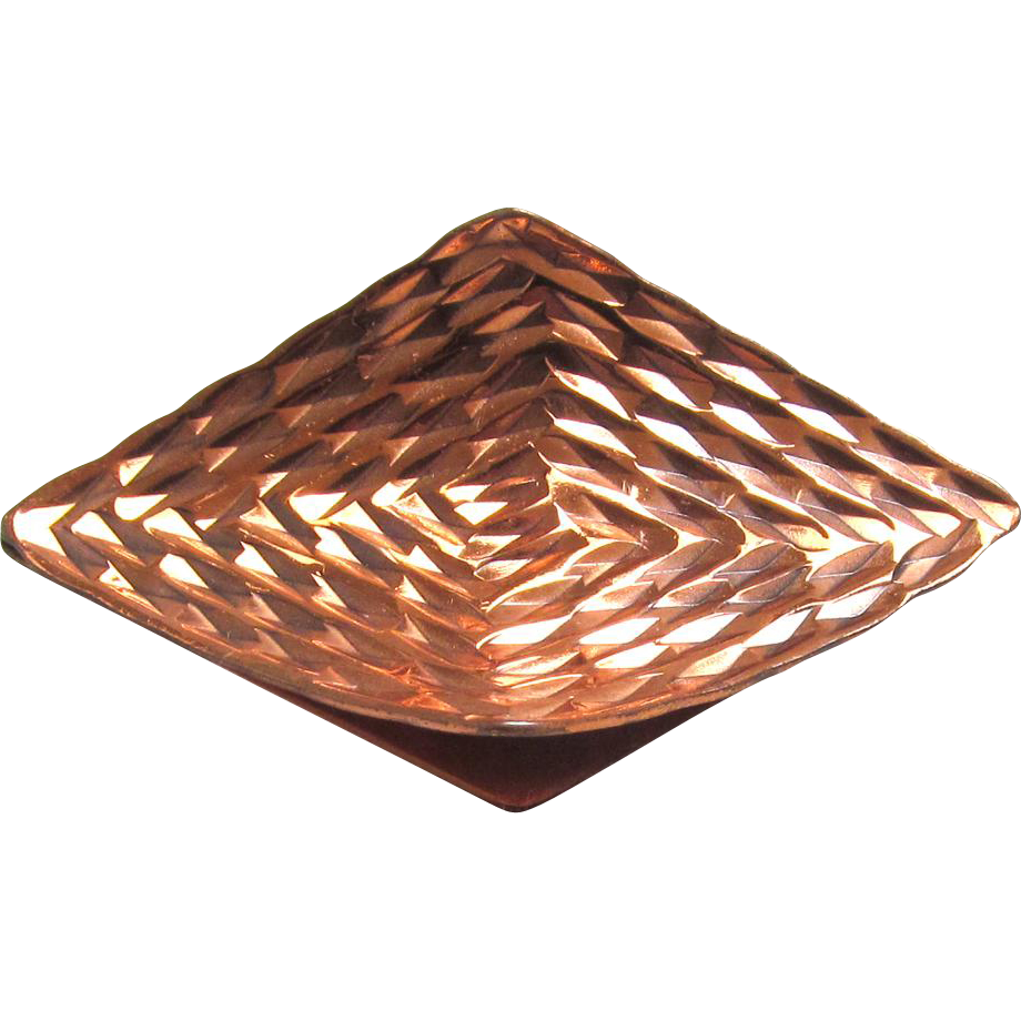 Modernist Copper Brooch Gret Barkin New Hope PA