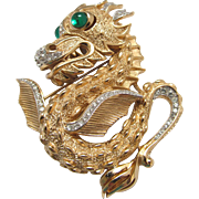 Vintage Crown Trifari Dragon Brooch from Something Wild Collection