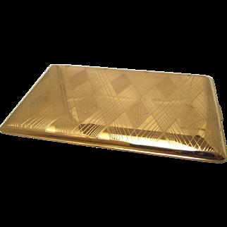 Elgin American Engraved Cigarette Case Geometric Design