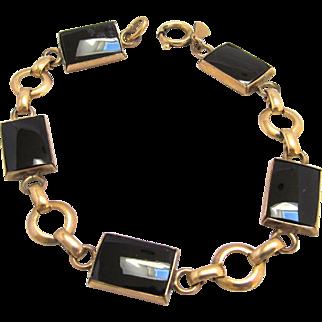 Amco Onyx Bracelet Gold Filled