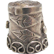 Sterling Silver Thimble Mexico Eagle Mark 3 Signed BB