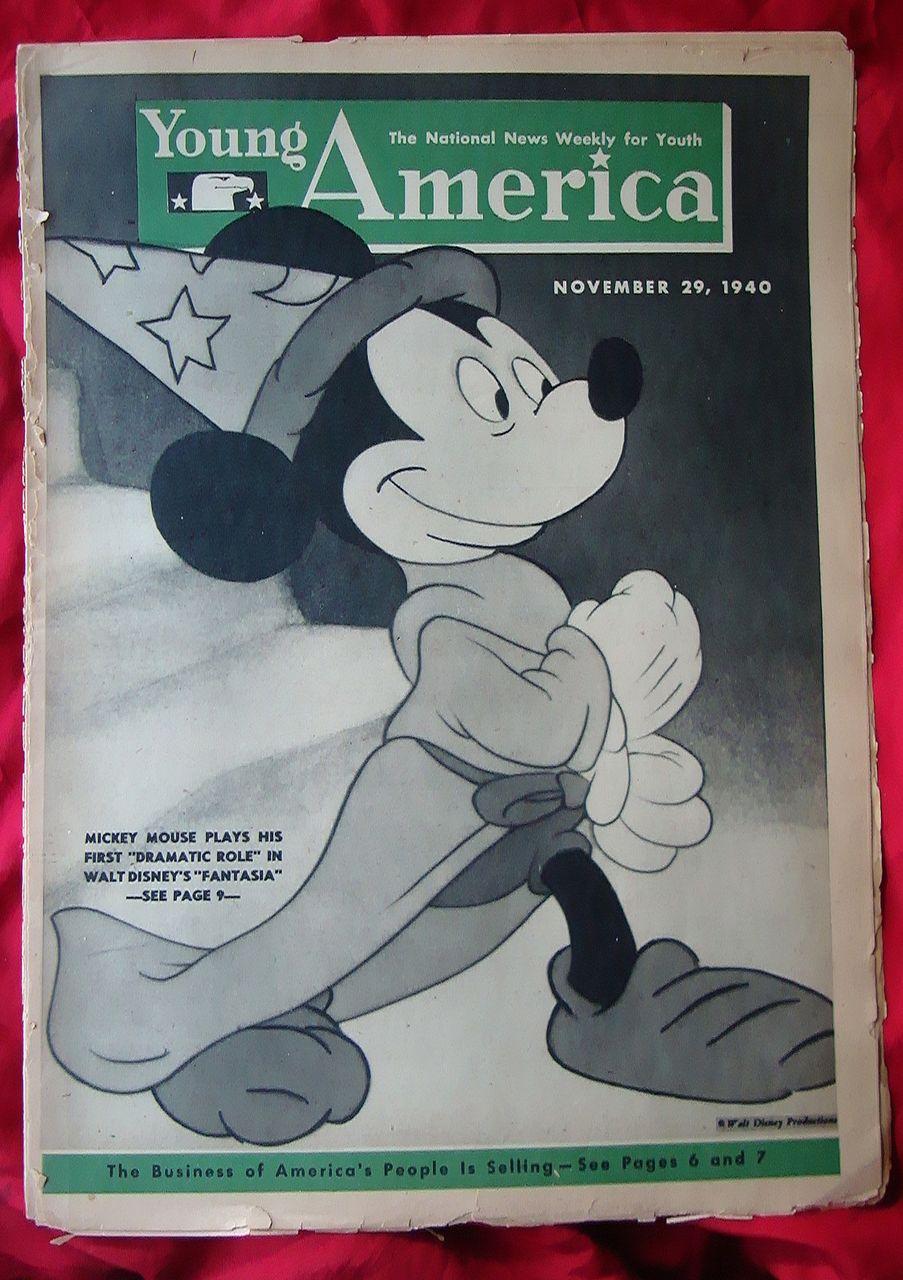 1940 Walt Disney Fantasia  Mickey Mouse Young America Magazine