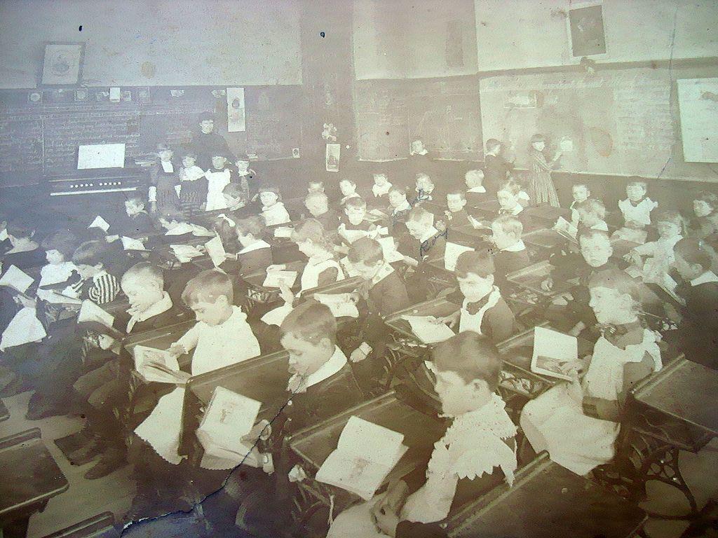 Titusville,Pa. 1880 School Albumen Photograph