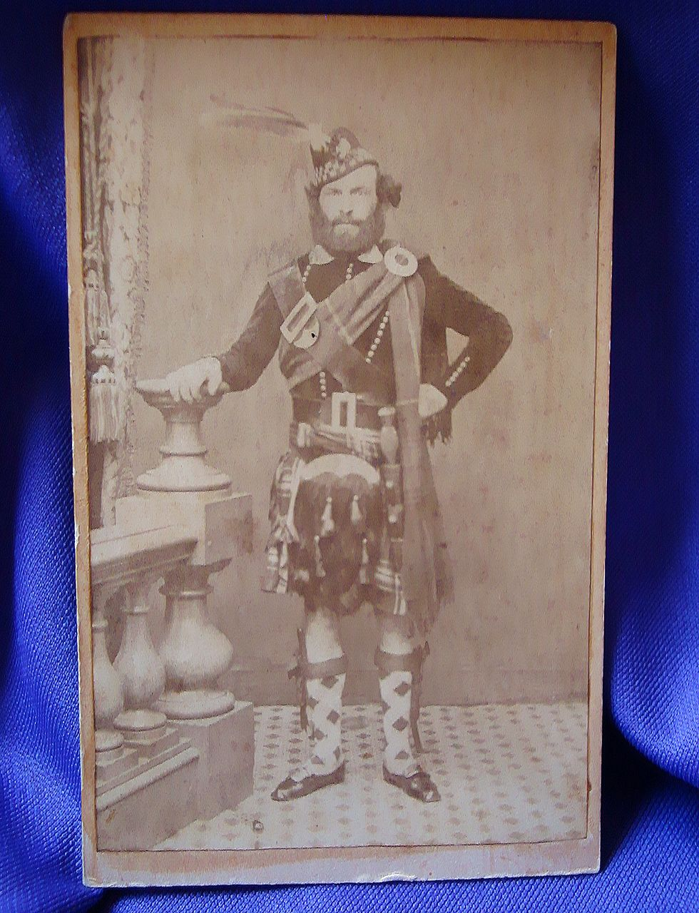 Scarce CDV of Maine Civil War Soldier 1st Maine Scottish Battalion